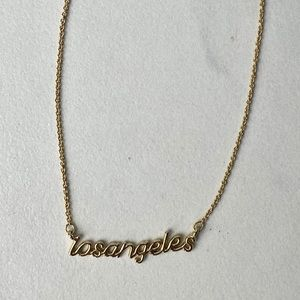 Gold Los Angeles Script Necklace
